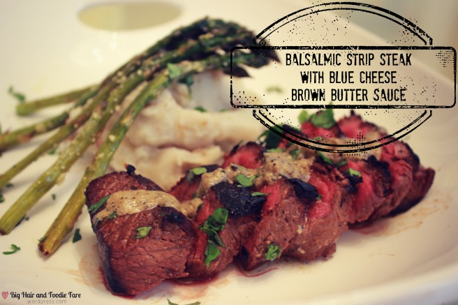 Balsamic strip steak